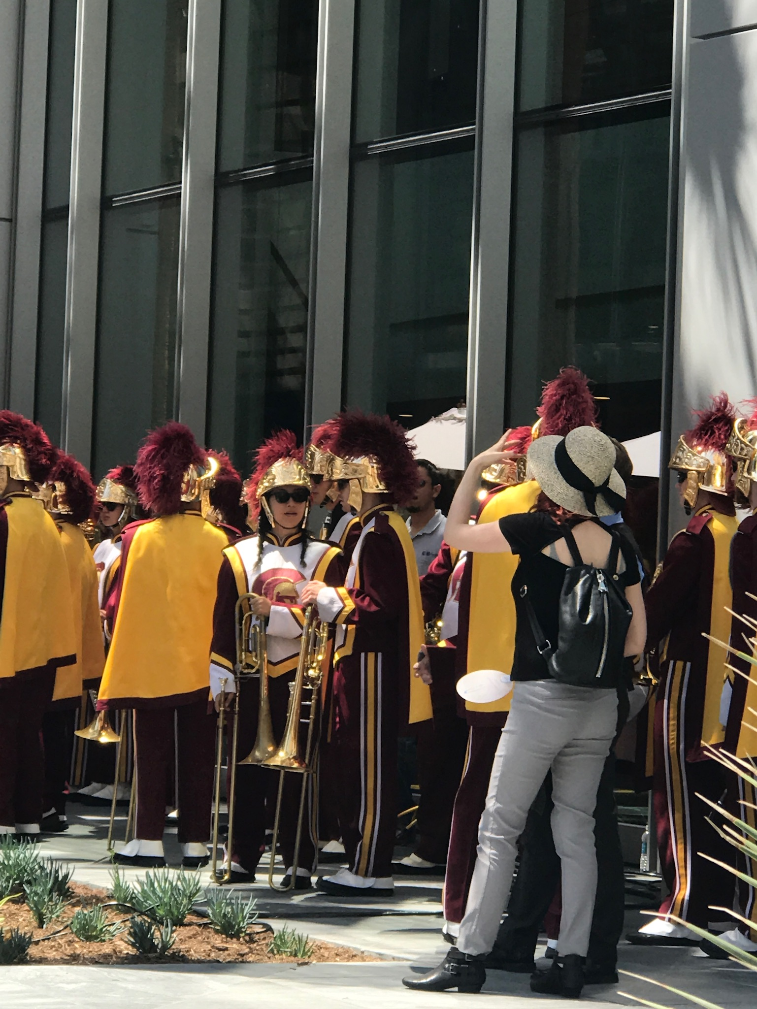 USC Trojan Marching Band headlines Wilshire Grand Center Grand Opening June 23 2017