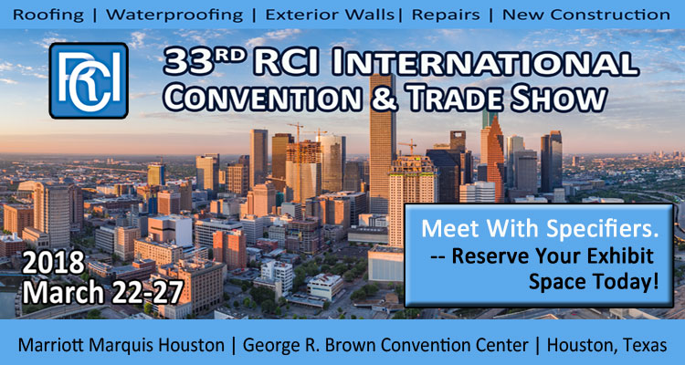 The Terra-Petra Waterproofing Division will be an Exhibitor at the RCI International Convention and Trade Show in Houston in March