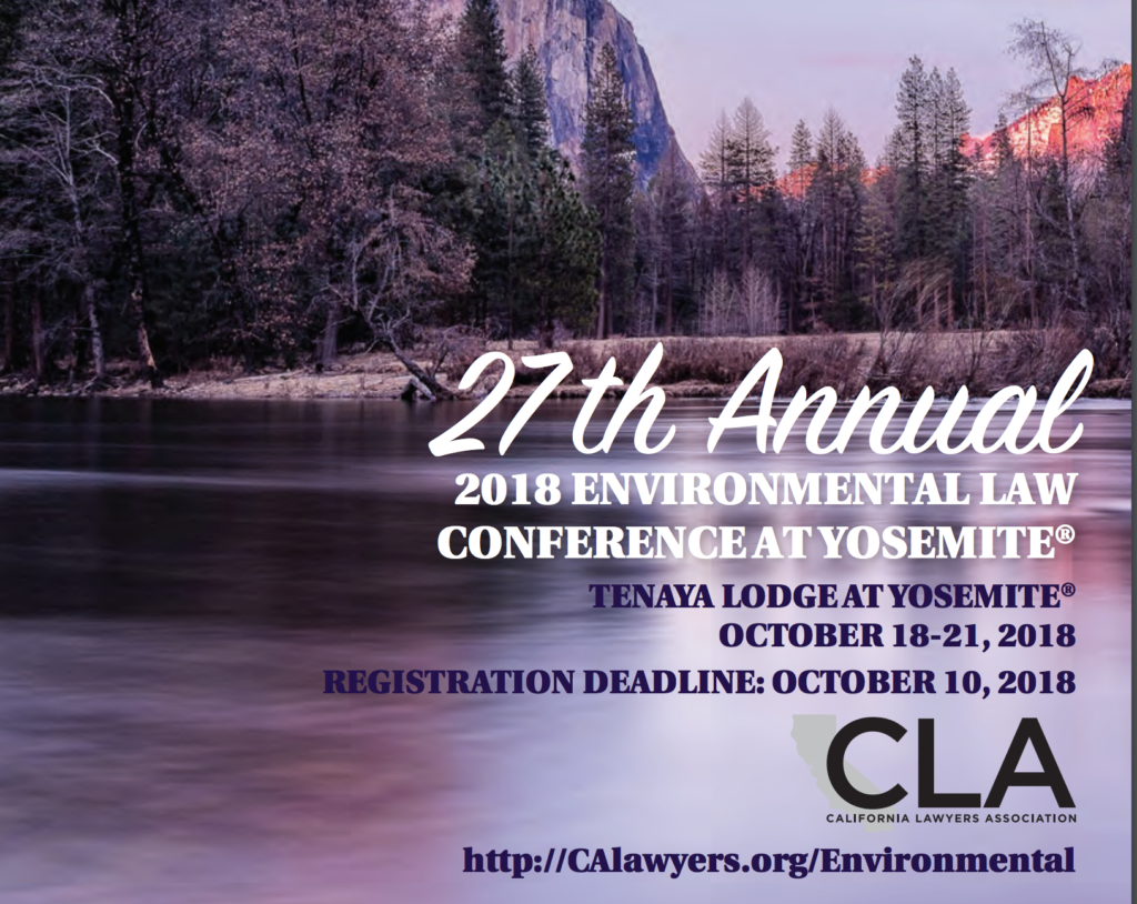 TERRA-PETRA SPONSORS CLA ENVIRONMENTAL LAW CONFERENCE AT YOSEMITE